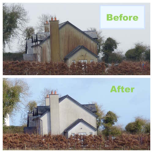 render cleaning before after